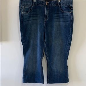 Plus Size 24 Boot Cut Jeans, Hemmed to Petite
